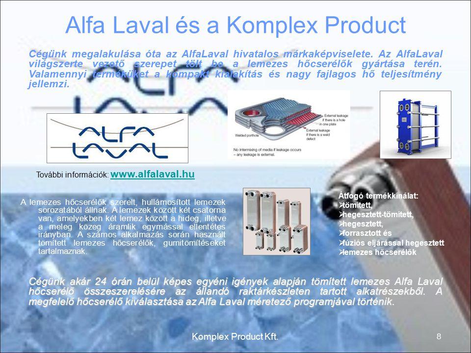 Alfa Laval és a Komplex Product