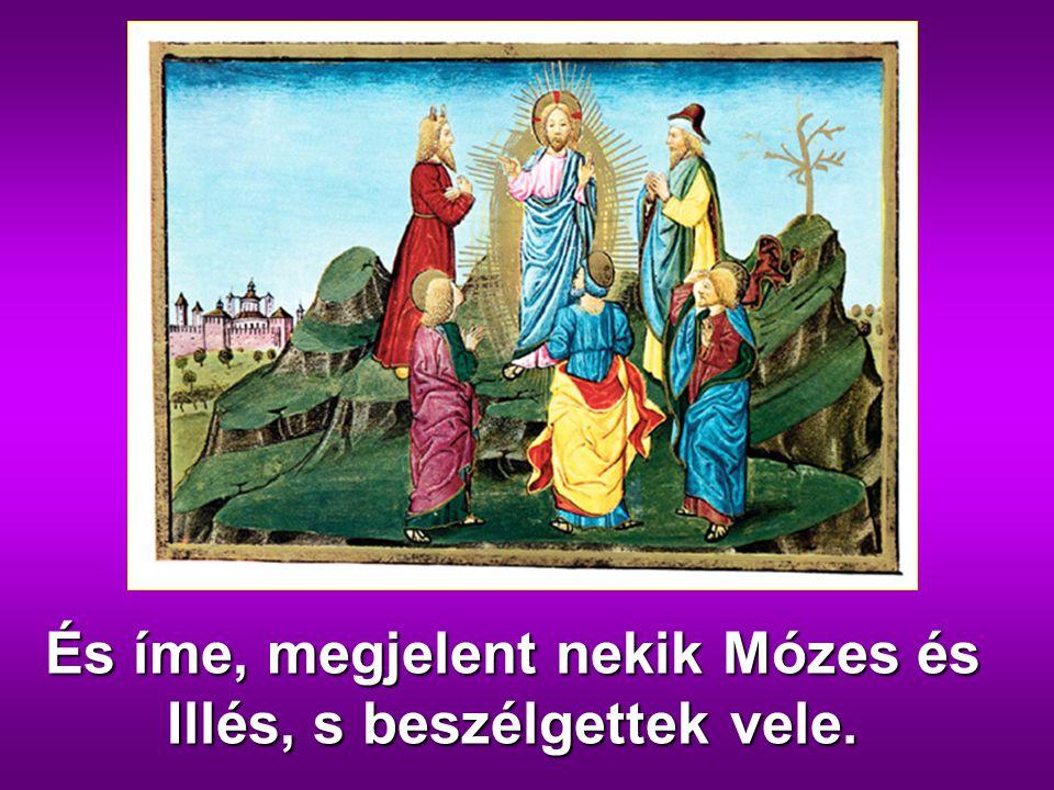 És íme, megjelent nekik Mózes és Illés, s beszélgettek vele.