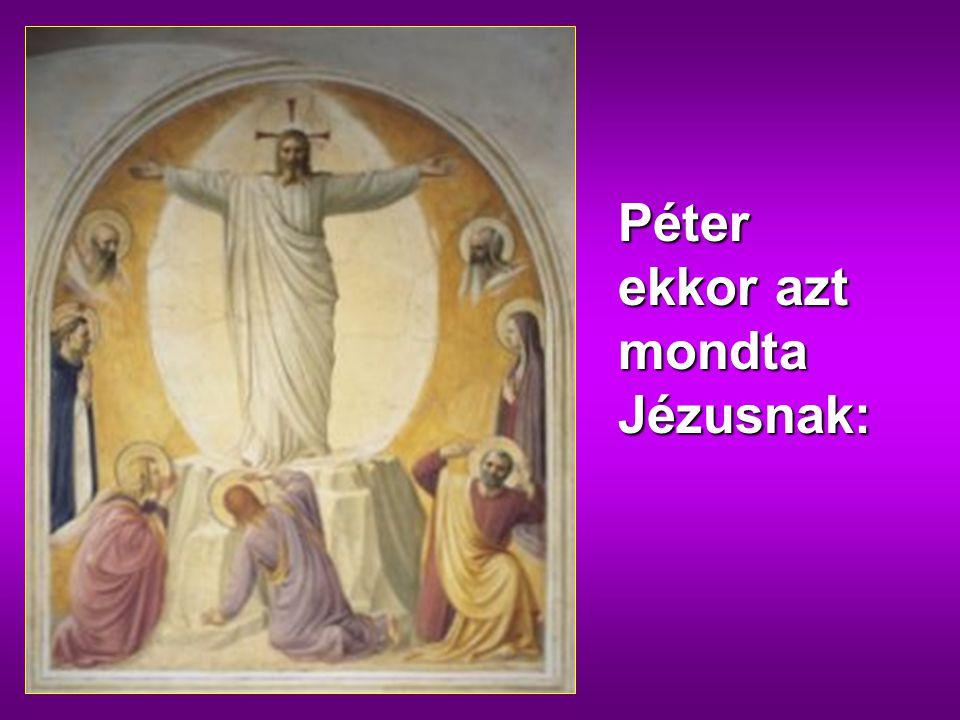 gfdd Péter ekkor azt mondta Jézusnak: