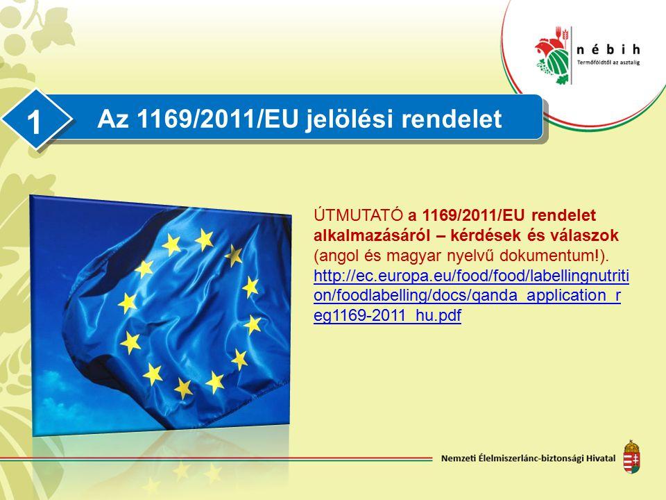 Az 1169/2011/EU jelölési rendelet