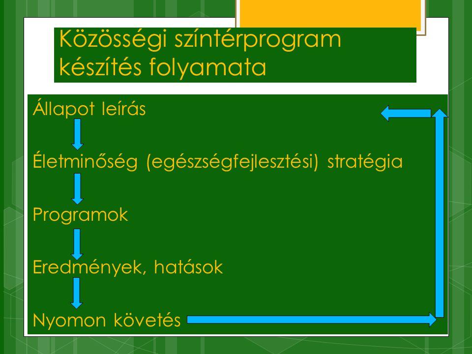 Közösségi színtérprogram készítés folyamata