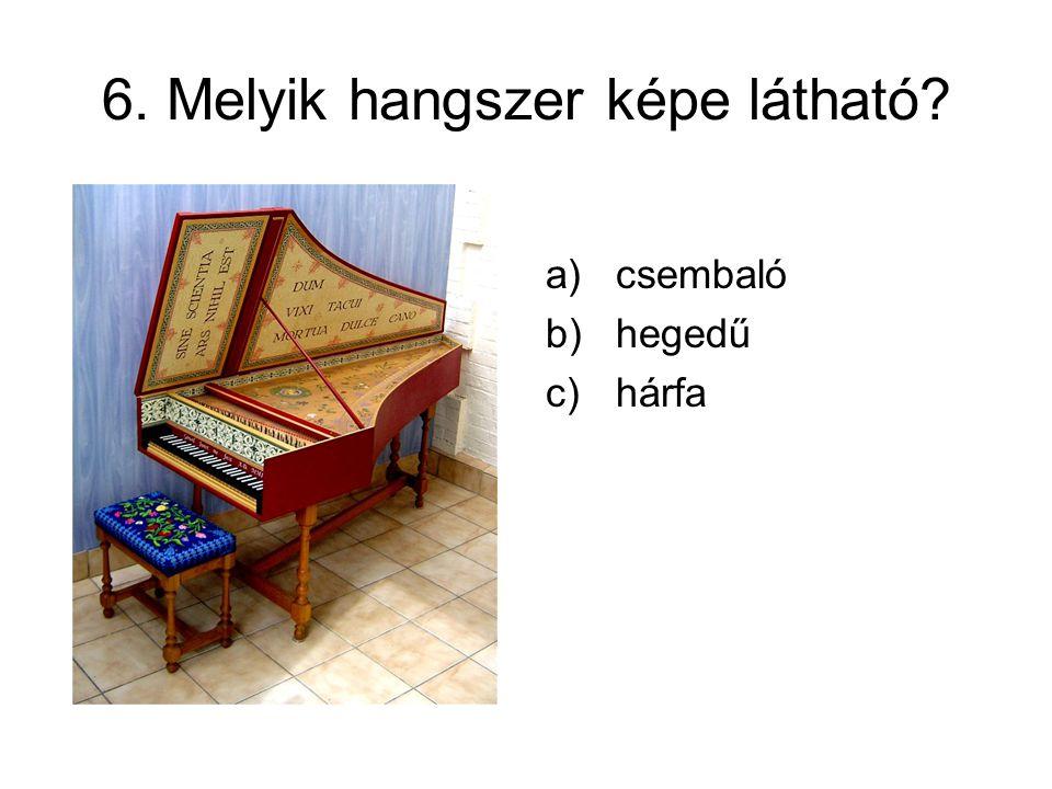 6. Melyik hangszer képe látható