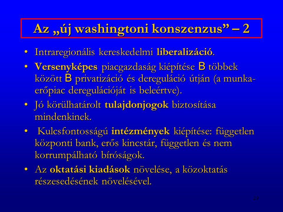 """Az """"új washingtoni konszenzus – 2"""