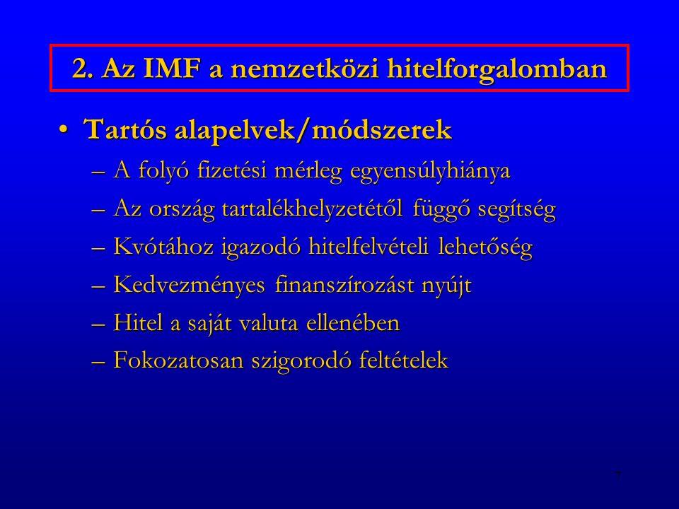 2. Az IMF a nemzetközi hitelforgalomban