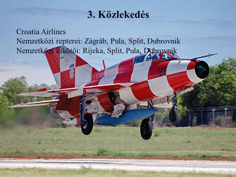 3. Közlekedés Croatia Airlines