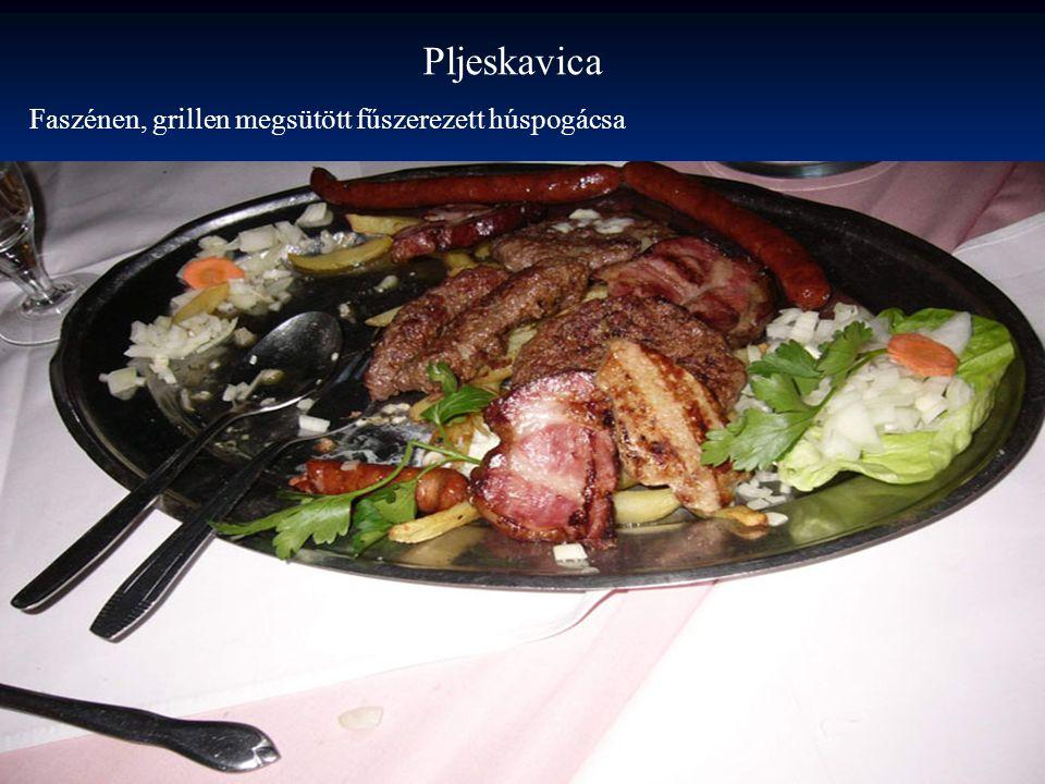 Pljeskavica Faszénen, grillen megsütött fűszerezett húspogácsa