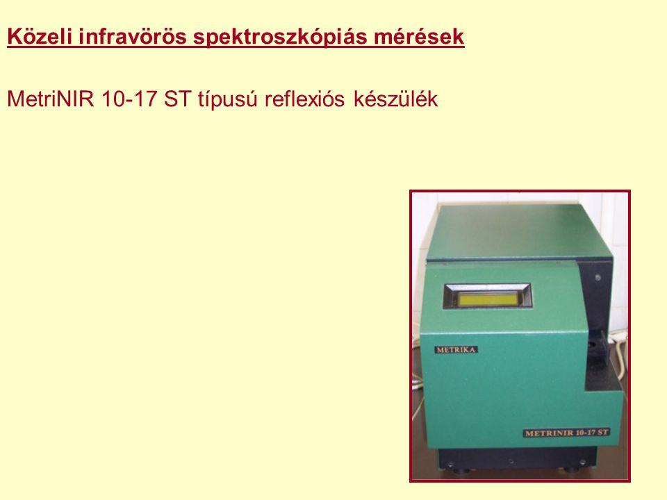 Közeli infravörös spektroszkópiás mérések