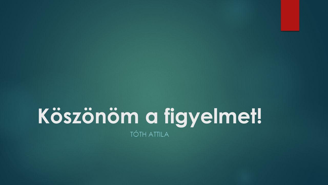 Köszönöm a figyelmet! Tóth Attila