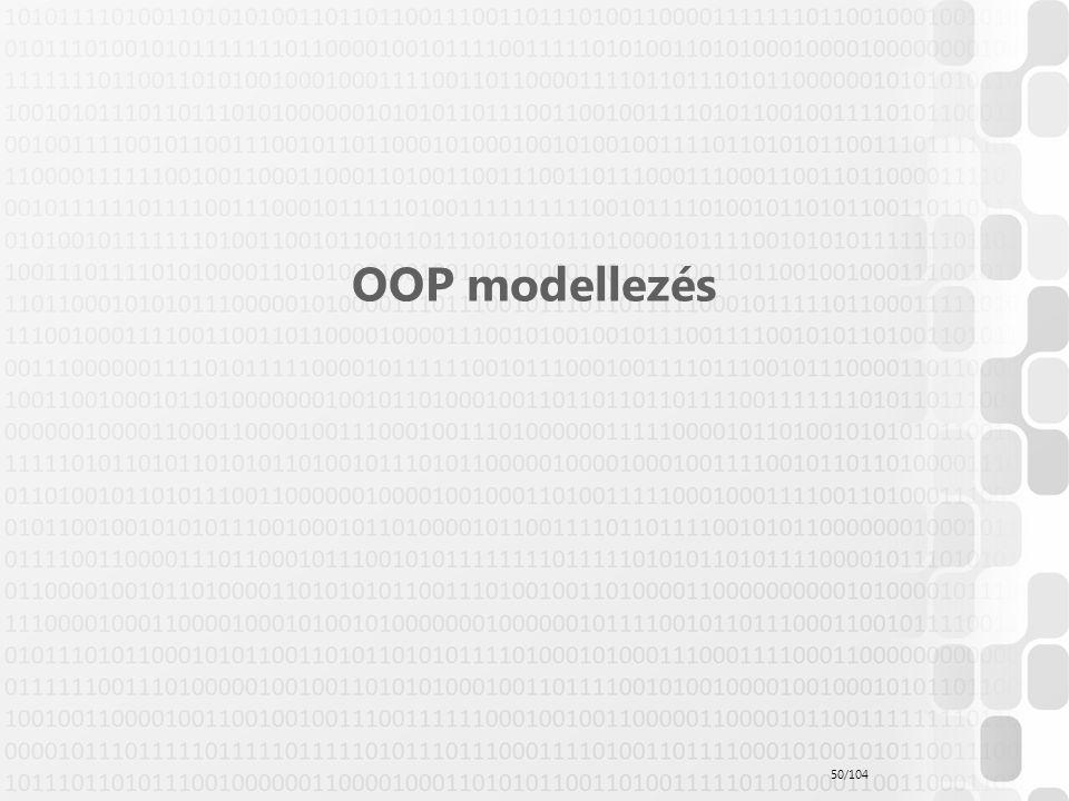 OOP modellezés