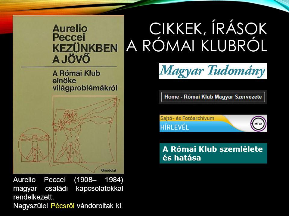 CIKKEK, ÍRÁSOK A Római klubról