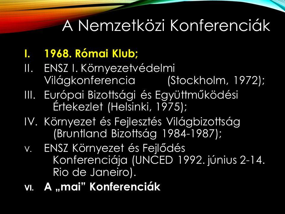 A Nemzetközi Konferenciák