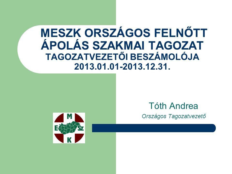 Tóth Andrea Országos Tagozatvezető