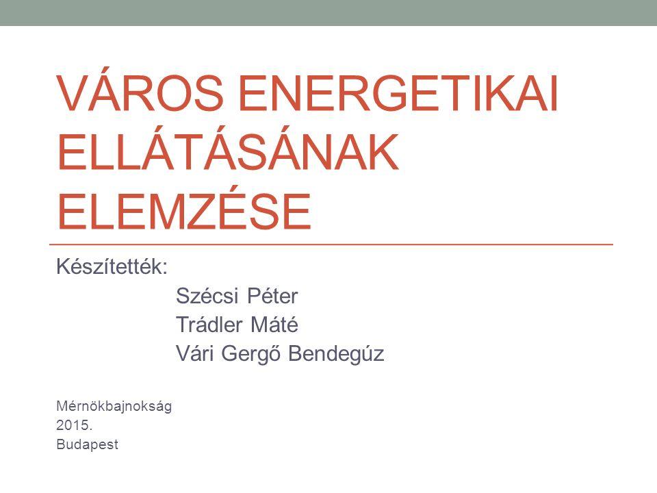 Város energetikai ellátásának elemzése