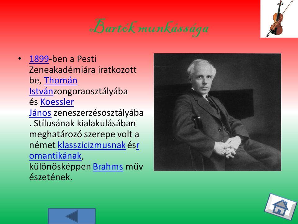 Bartók munkássága
