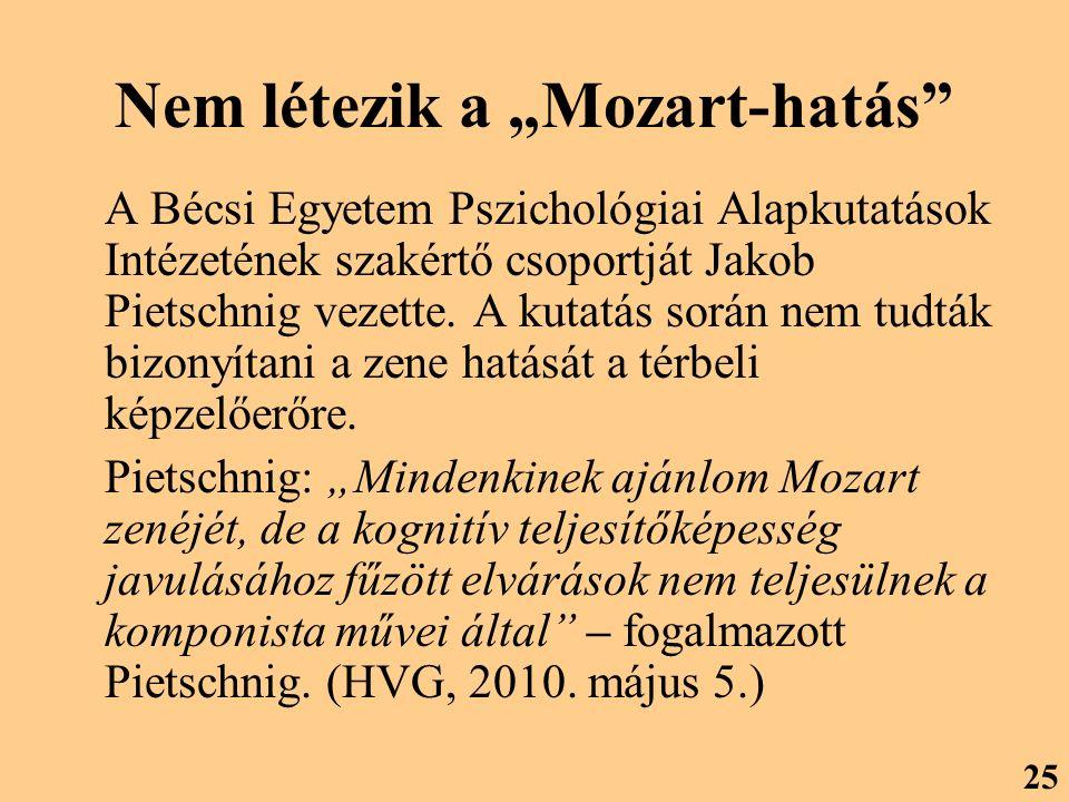 """Nem létezik a """"Mozart-hatás"""