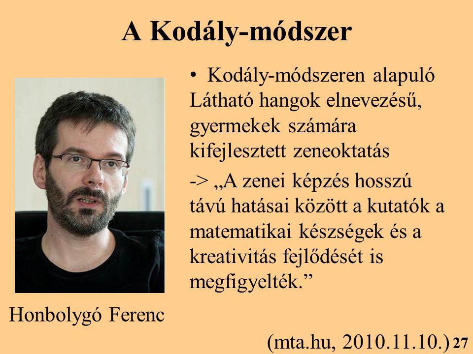 A Kodály-módszer Kodály-módszeren alapuló Látható hangok elnevezésű, gyermekek számára kifejlesztett zeneoktatás.