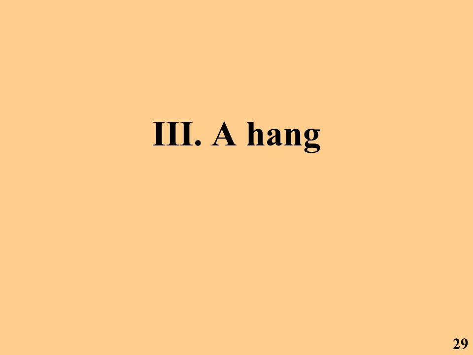III. A hang