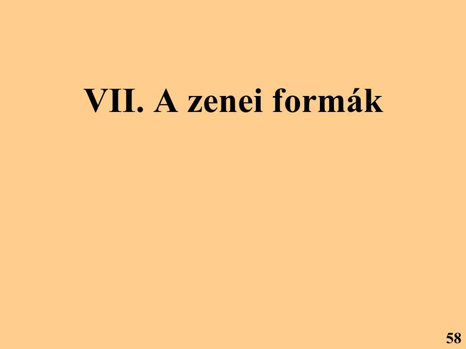 VII. A zenei formák