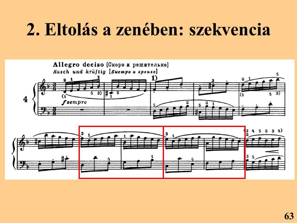 2. Eltolás a zenében: szekvencia
