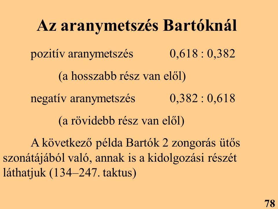 Az aranymetszés Bartóknál
