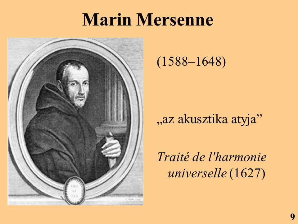 """Marin Mersenne (1588–1648) """"az akusztika atyja"""