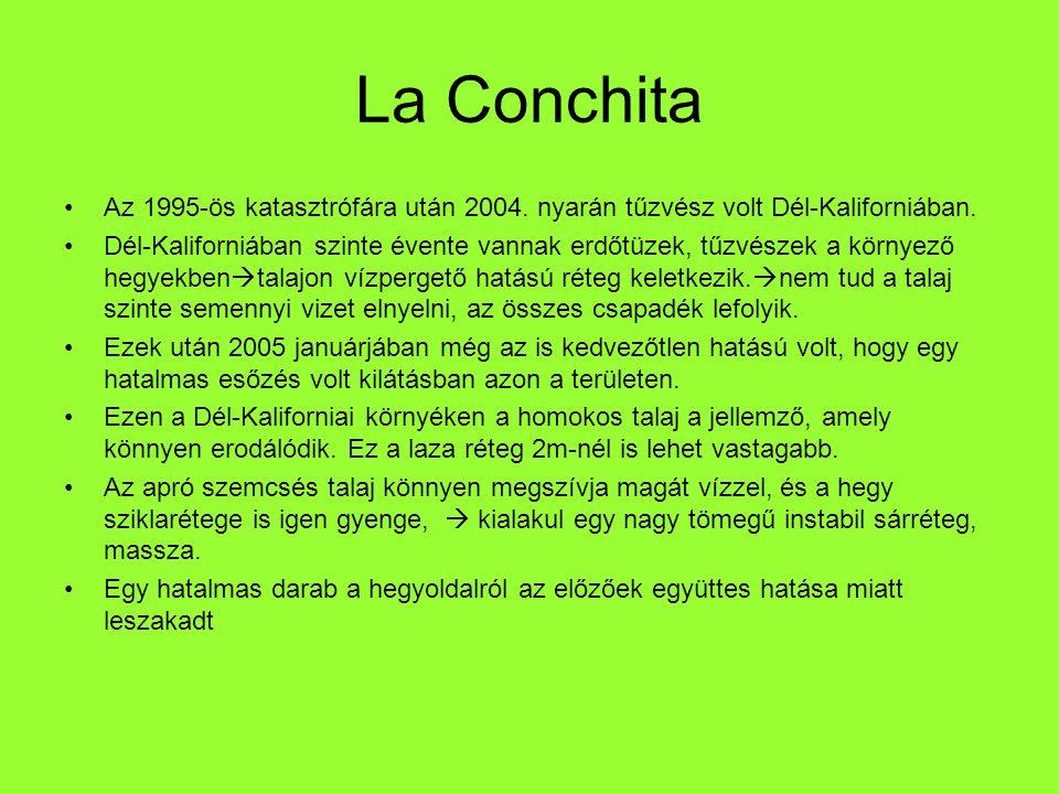 La Conchita Az 1995-ös katasztrófára után 2004. nyarán tűzvész volt Dél-Kaliforniában.