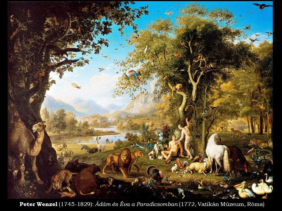Peter Wenzel (1745-1829): Ádám és Éva a Paradicsomban (1772, Vatikán Múzeum, Róma)