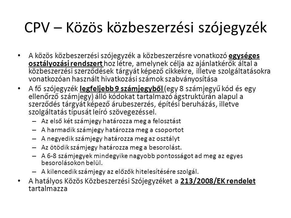 CPV – Közös közbeszerzési szójegyzék