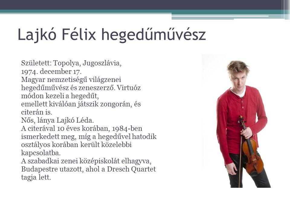 Lajkó Félix hegedűművész