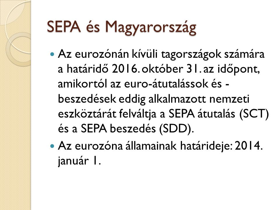 SEPA és Magyarország