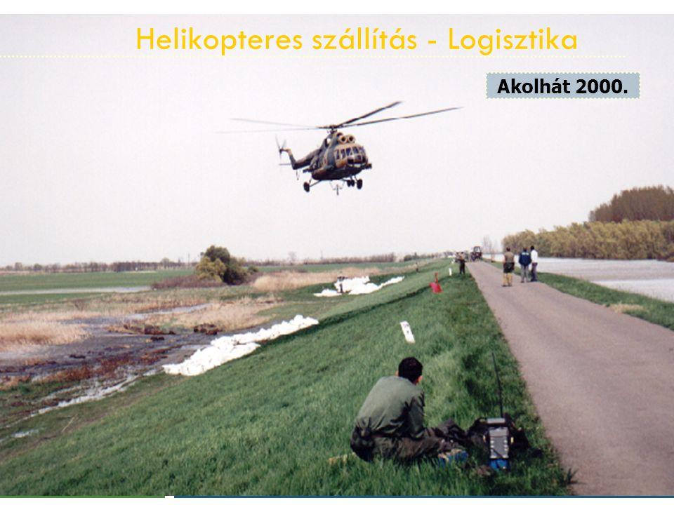 Helikopteres szállítás - Logisztika