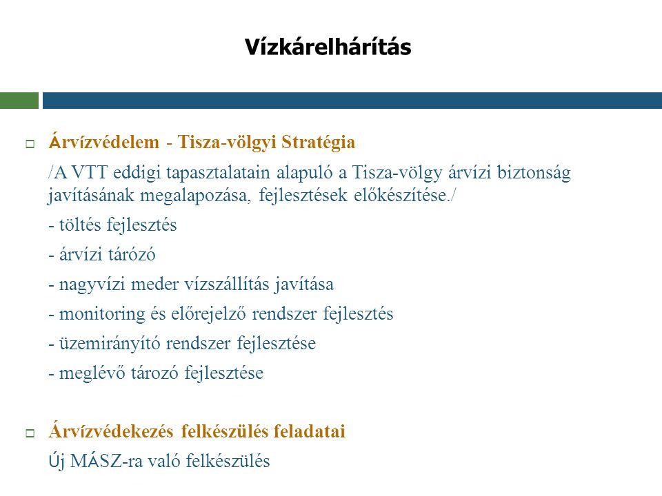 Vízkárelhárítás Árvízvédelem - Tisza-völgyi Stratégia