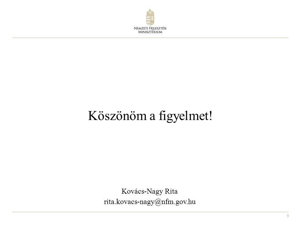 Köszönöm a figyelmet! Kovács-Nagy Rita rita.kovacs-nagy@nfm.gov.hu