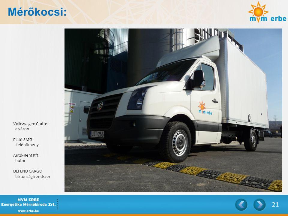 Mérőkocsi: Volkswagen Crafter alvázon Plató SMG felépítmény