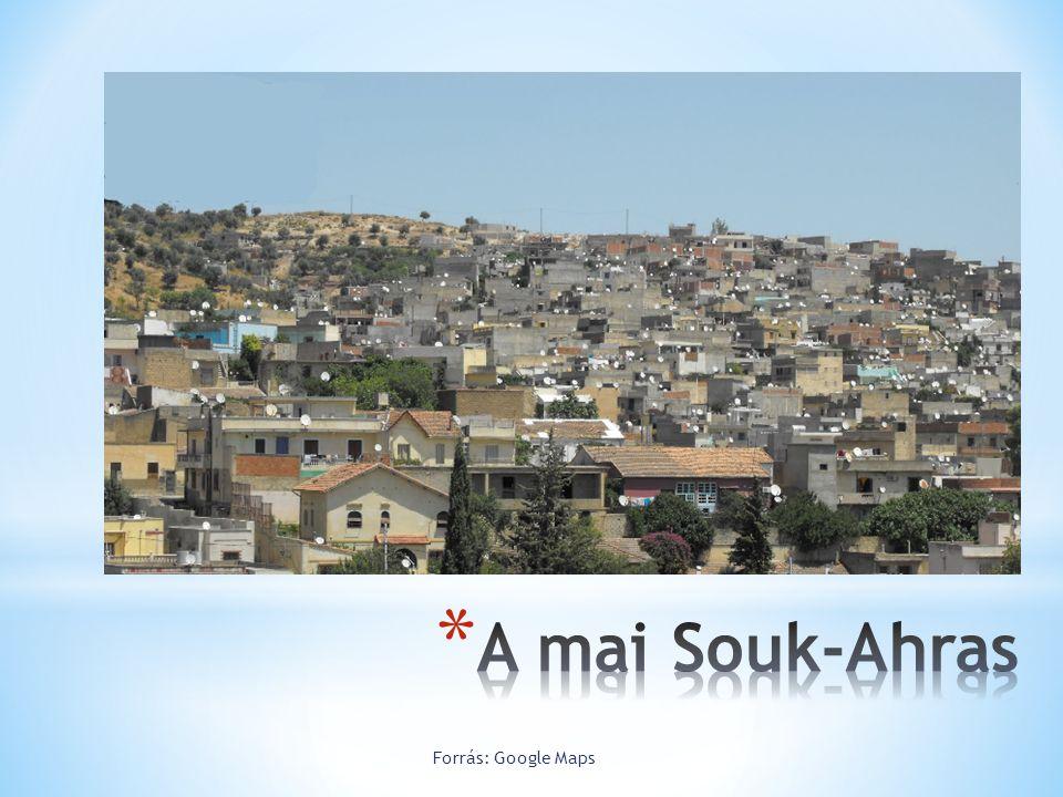 A mai Souk-Ahras Forrás: Google Maps