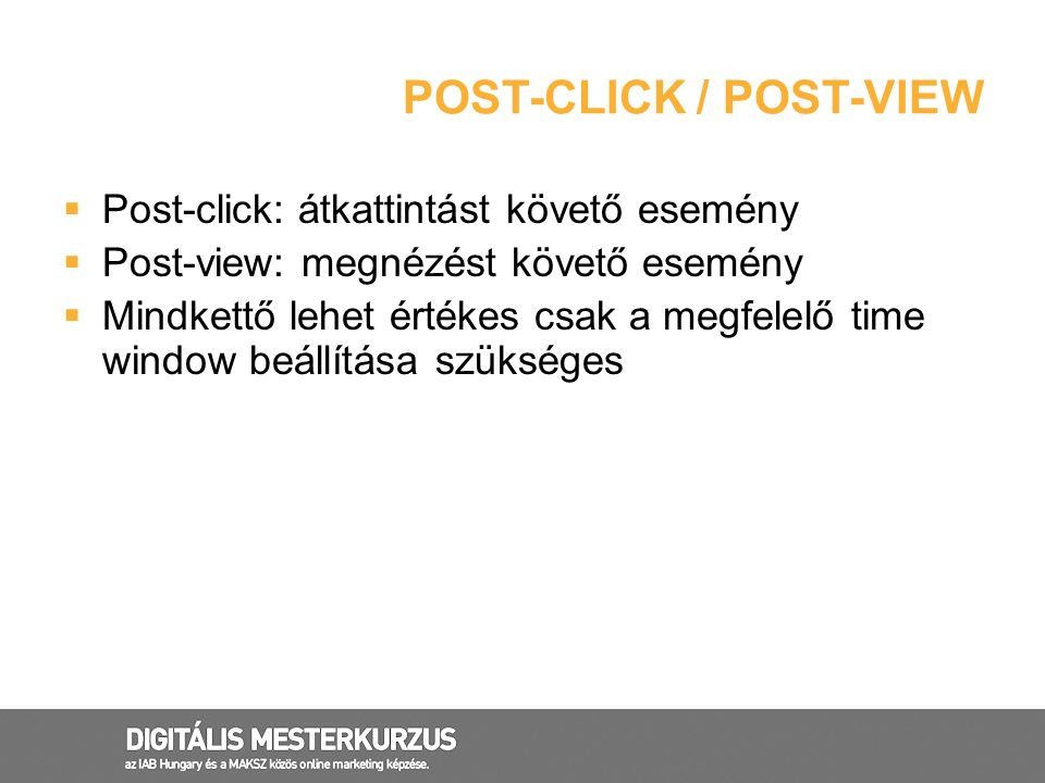 Post-click / post-view