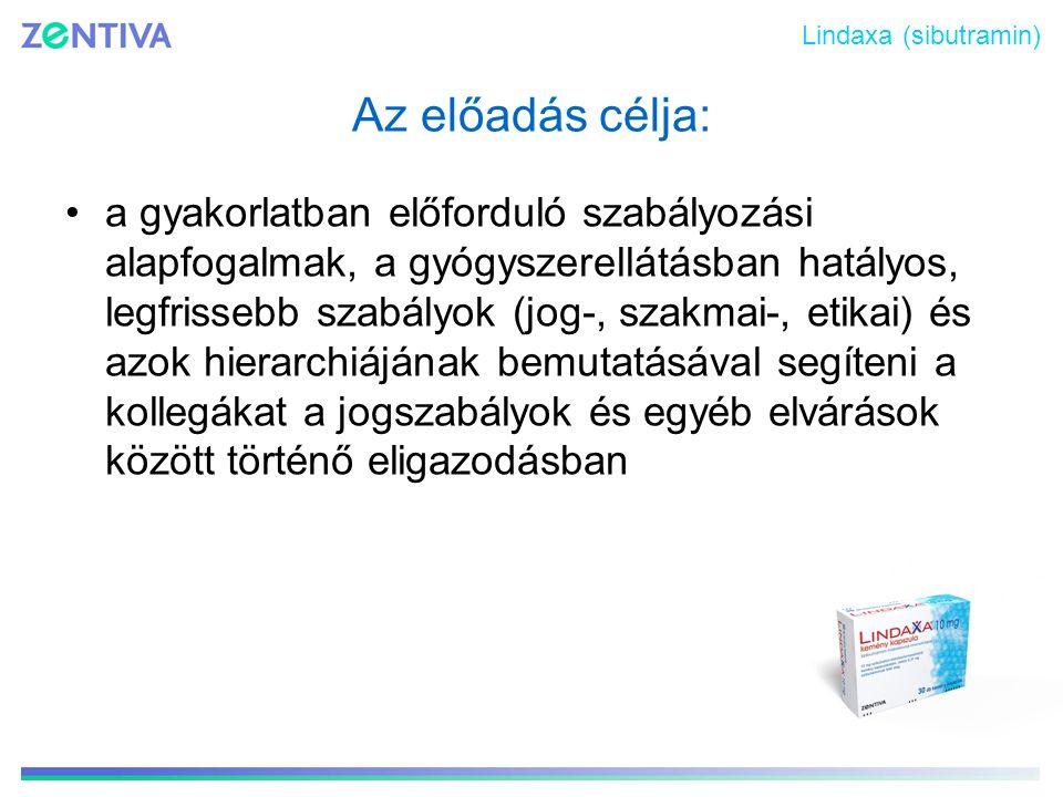 Lindaxa (sibutramin) Az előadás célja: