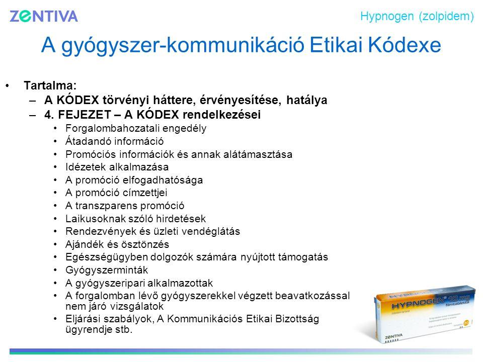 A gyógyszer-kommunikáció Etikai Kódexe