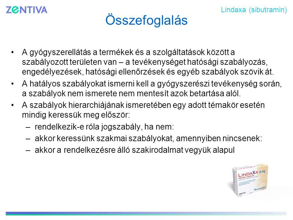 Lindaxa (sibutramin) Összefoglalás.