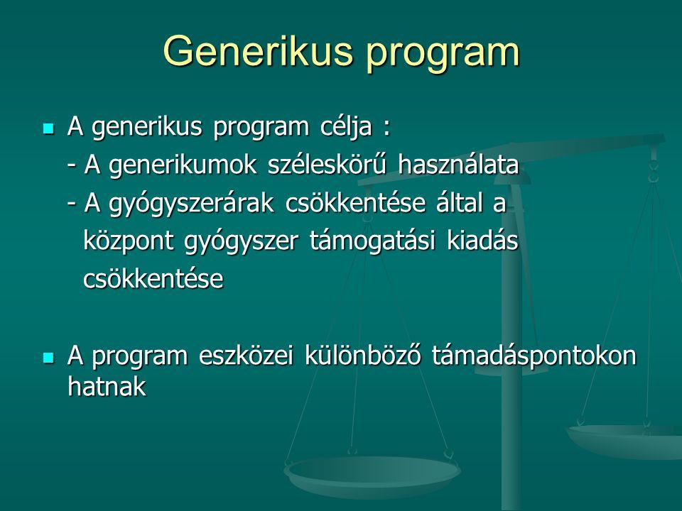 Generikus program A generikus program célja :