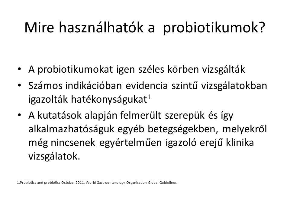 Mire használhatók a probiotikumok