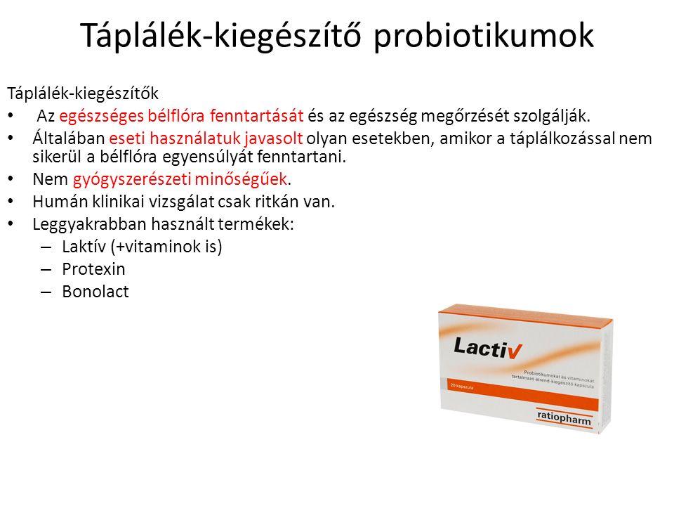 Táplálék-kiegészítő probiotikumok