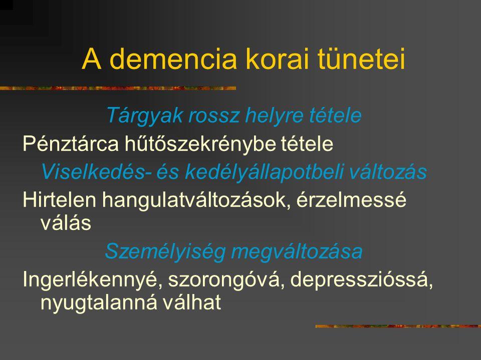 A demencia korai tünetei