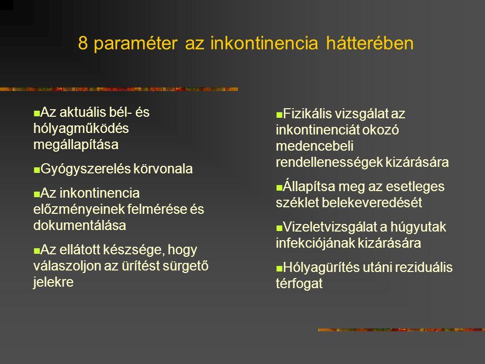 8 paraméter az inkontinencia hátterében