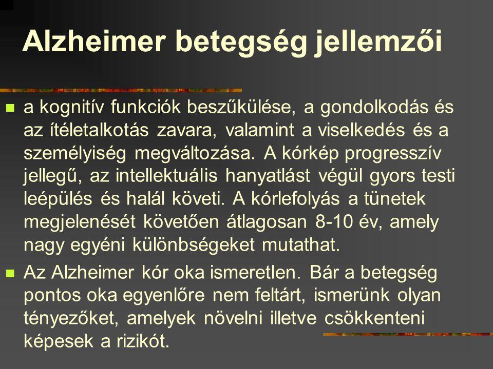 Alzheimer betegség jellemzői