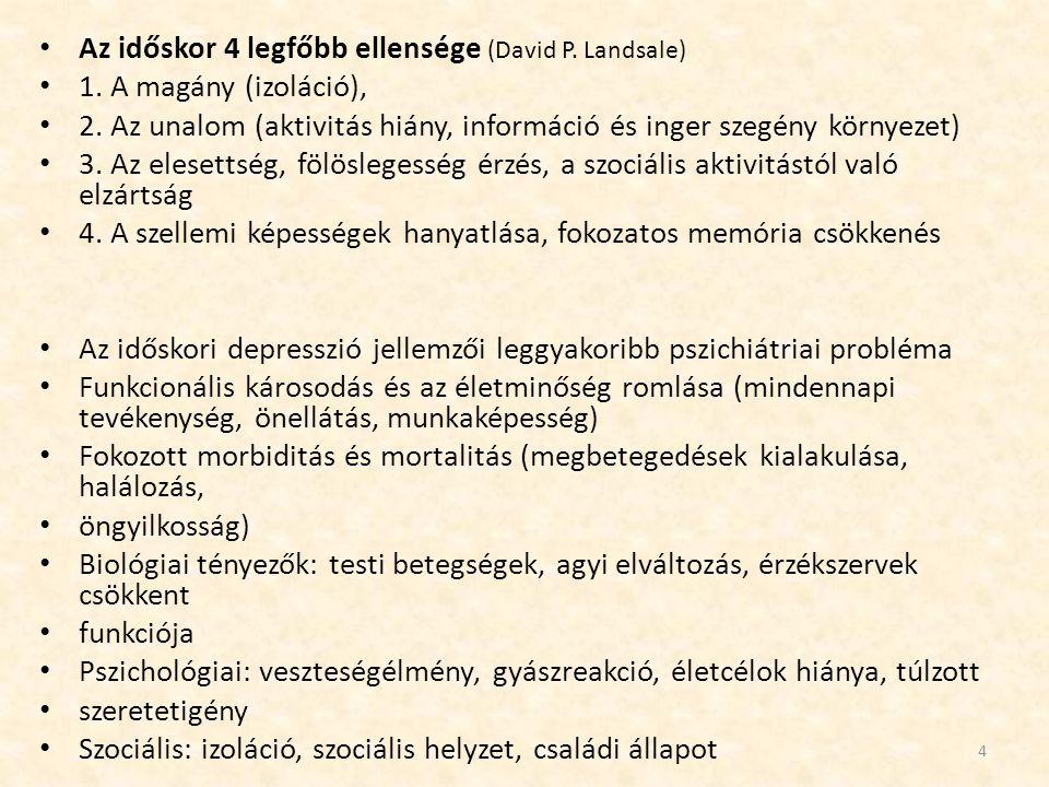 Az időskor 4 legfőbb ellensége (David P. Landsale)
