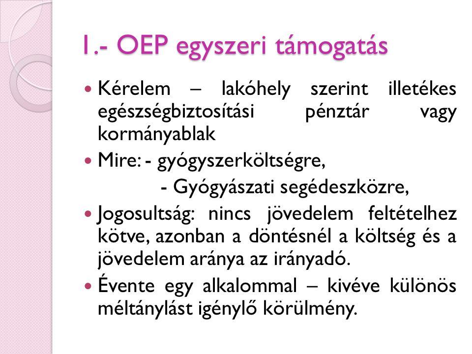 1.- OEP egyszeri támogatás