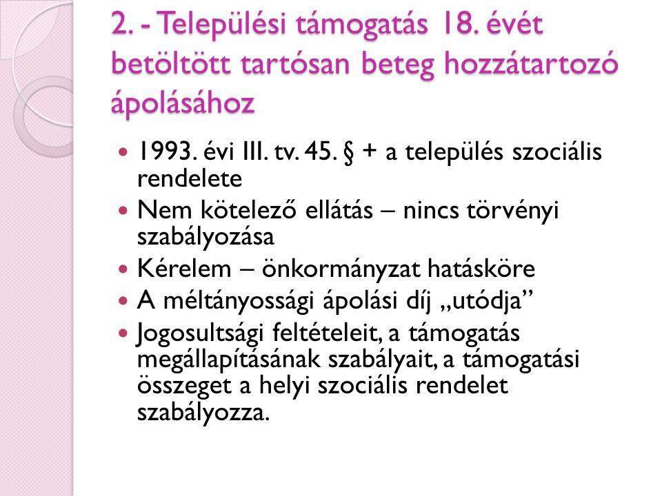 2. - Települési támogatás 18