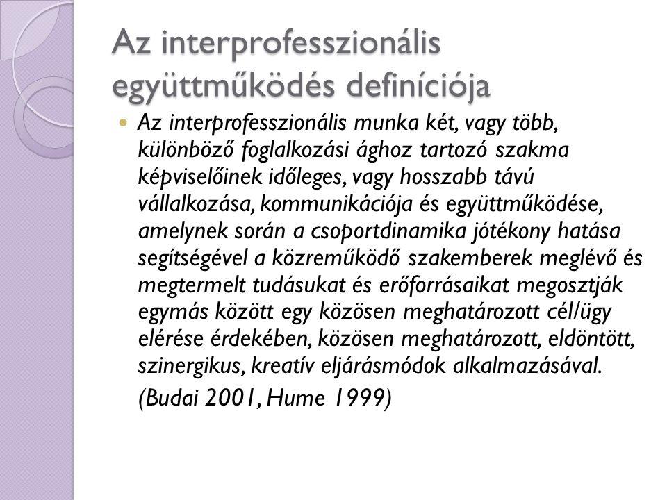 Az interprofesszionális együttműködés definíciója