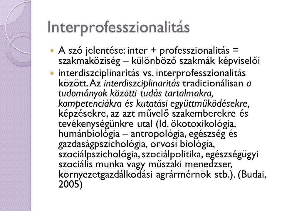 Interprofesszionalitás